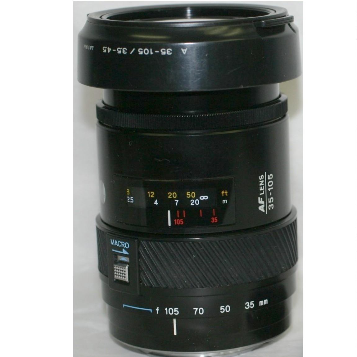 【中古】完動品ミノルタのソニー1眼レフカメラ使用可能AFズームレンズ35-105mm/F3.5-4,5