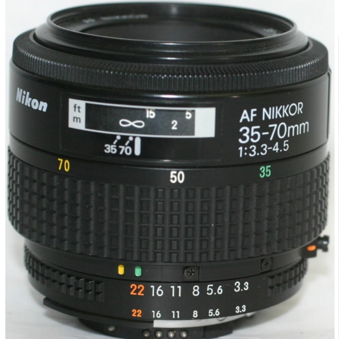 【中古】抜群に綺麗な完動美品ニコンのAFレンズ35-70mmF3,3-4,5AI-S