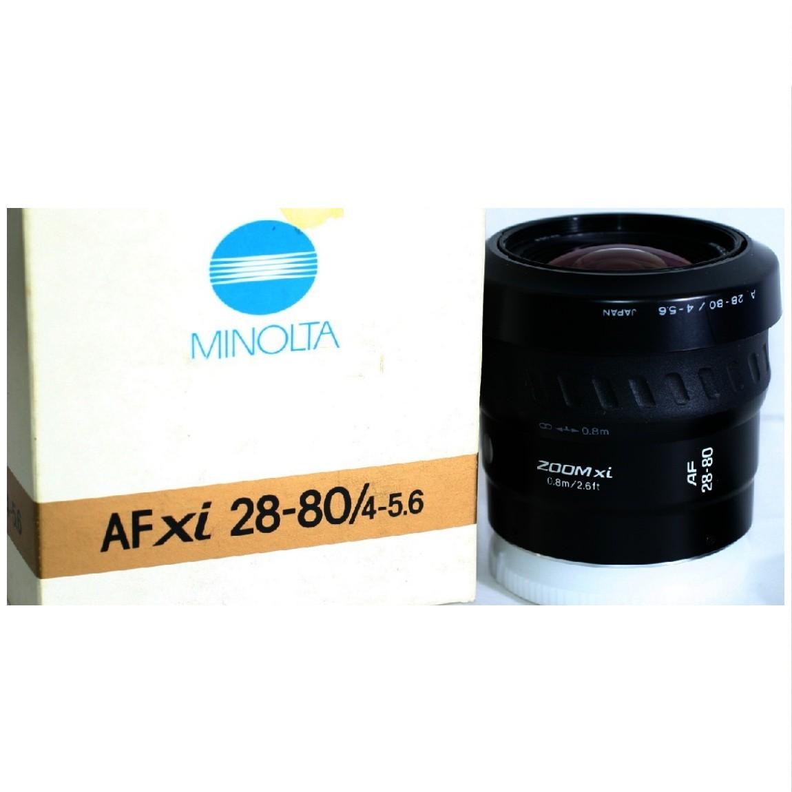 【中古】当時の販売価格3万円長期保管新品未使用ミノルタのソニー1眼レフデジタルカメラ使用可能AFXI28-80/4-5,6パワーズームレンズ 1ヶ月保証付き