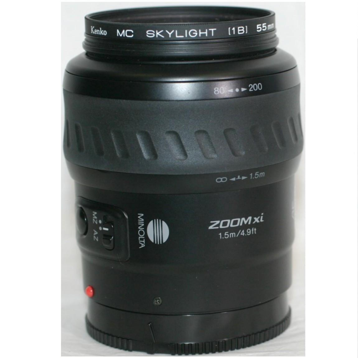 【中古】新品同様ミノルタのソニーの1眼レフデジタルカメラにも使用可能なAFパワーズームレンズ80-200mmF4,5-5,6