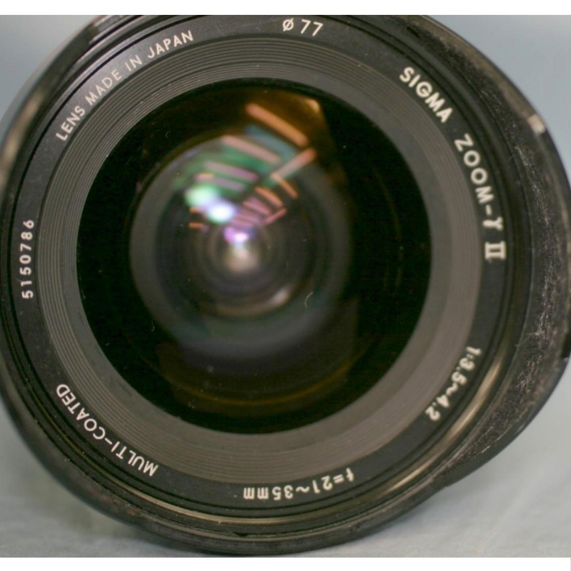 【中古】完動美品シグマのペンタックス用21-35mmF3,5-4,2ズ-ムレンズγII