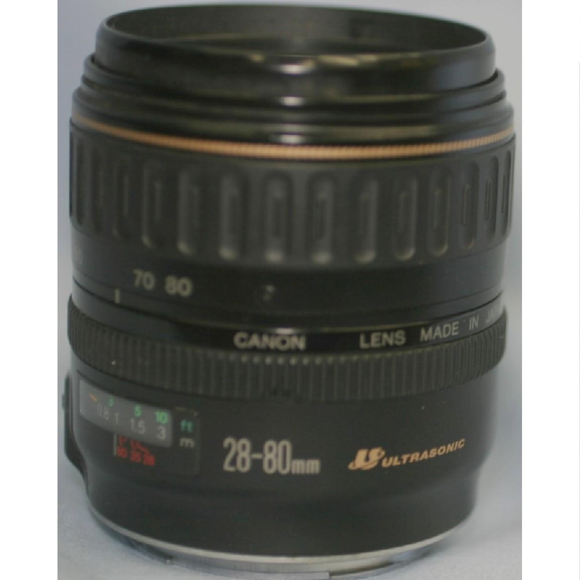 【中古】美品キャノン1眼レフデジタルカメラ使用可能純正AFレンズ28-80mm USM ○F9-14-2