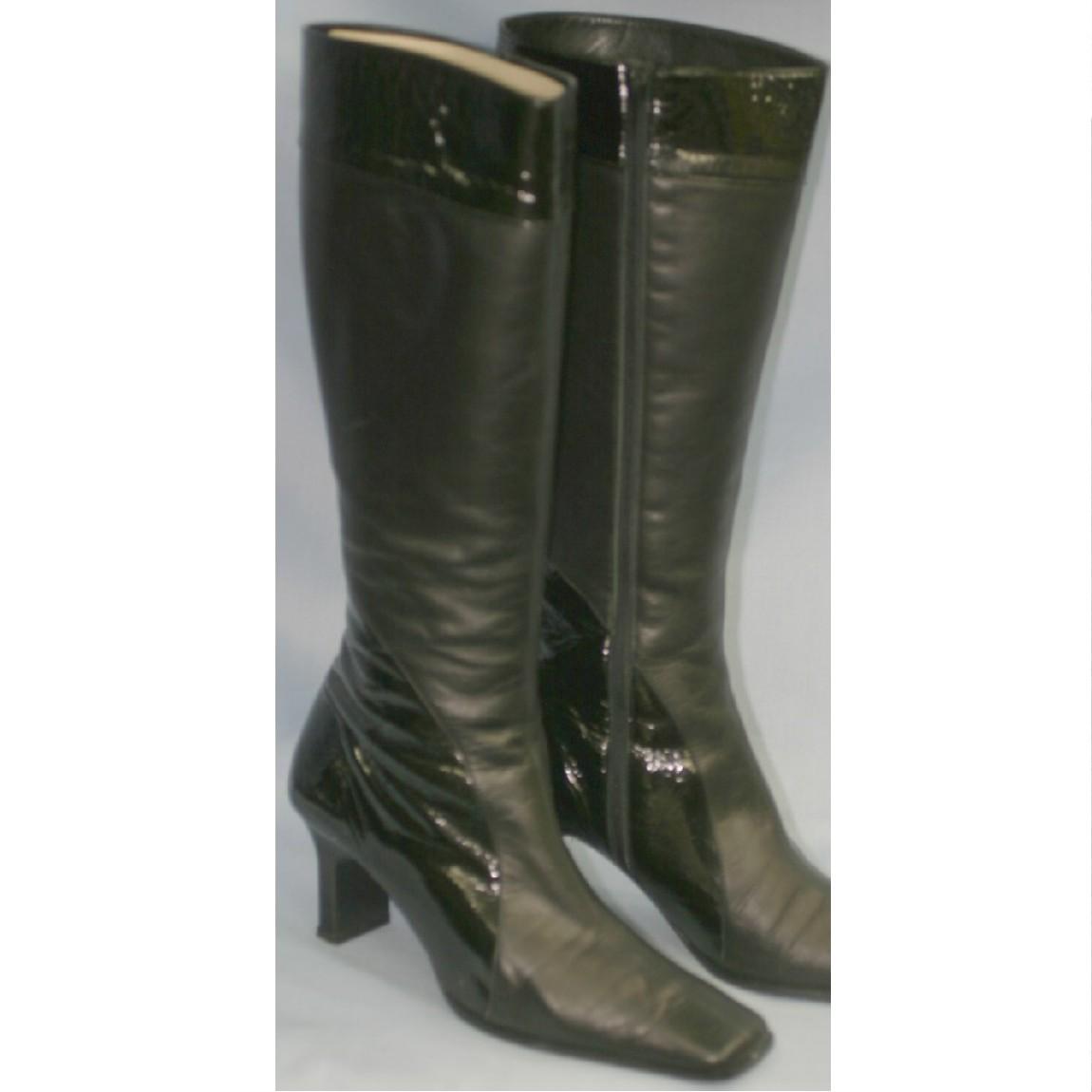 【中古】本物新品同様マークスリングMARKS RING女性用50400円24cmロングブーツ ○D7-55-2