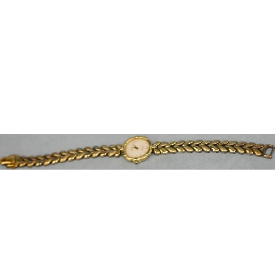 【中古】本物完動品シチズン女性用時計エクシ-ド金色楕円ダイヤ付アンティ-クな作り ○A5-51
