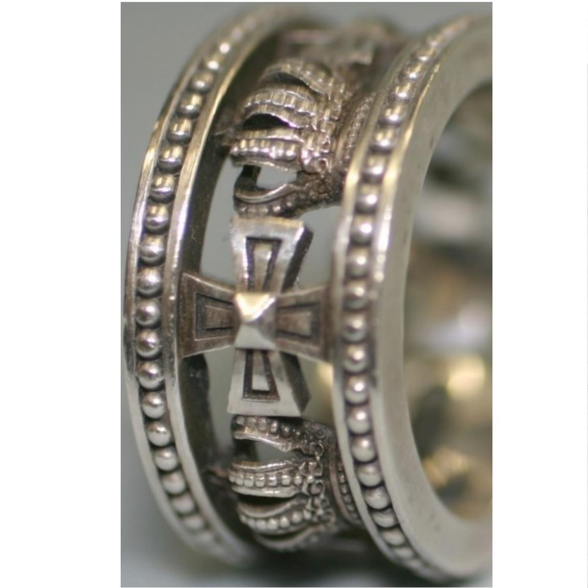 【中古】本物ジャスティンディビスワイルドなSV925指輪サイズ18,5cm位 光り輝いています ○B8-23