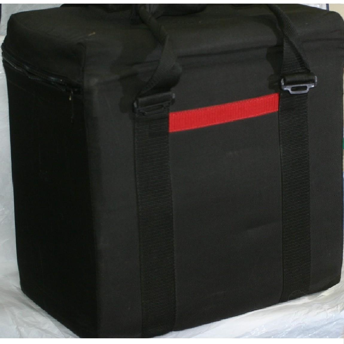 【中古】本物可プロカメラマンが使用していたソフトタイプの黒いキャンバス素材のケース サイズW42H40D26cmクッション性が優れています