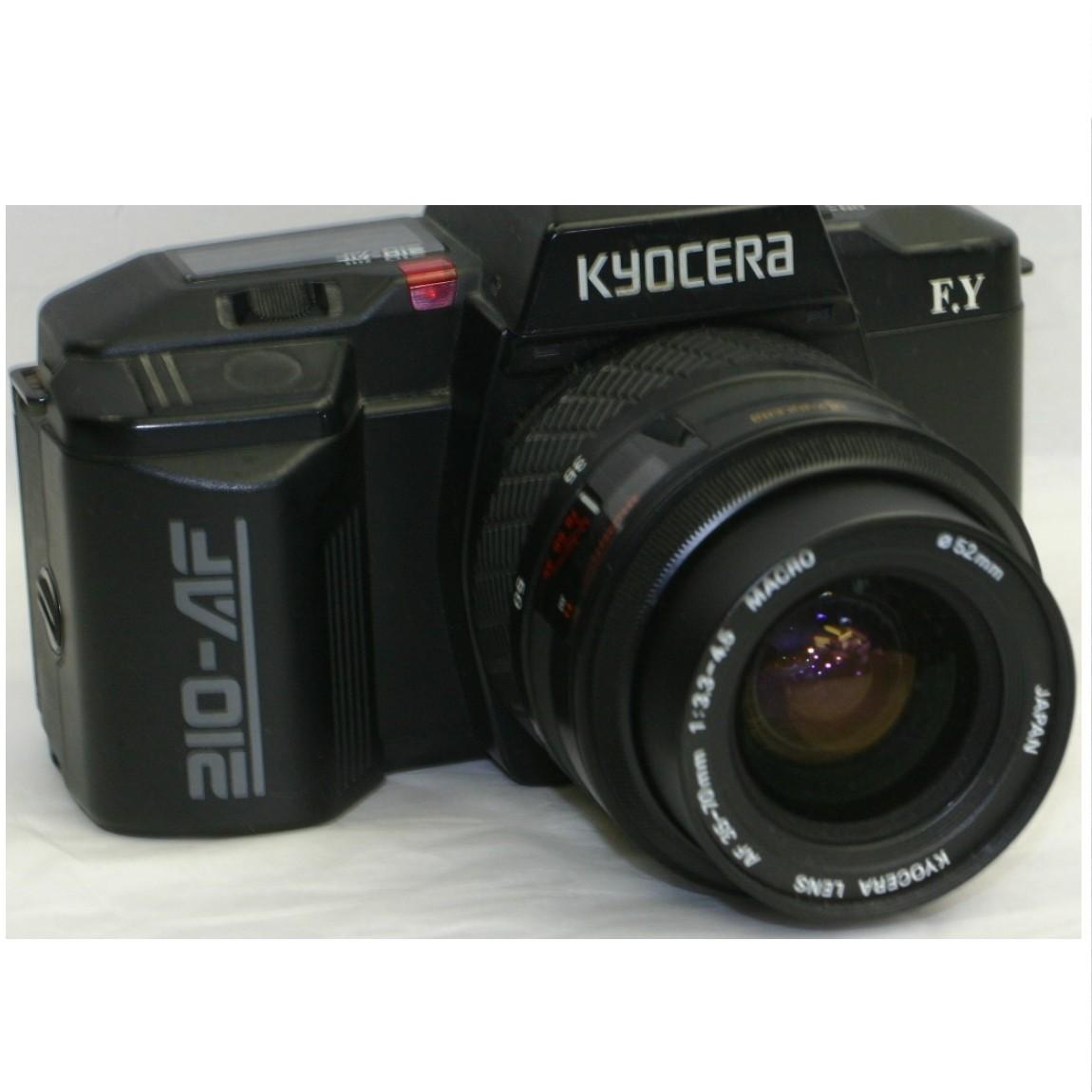 【中古】完動美品キョウセラ35mmフィルム使用ワインダー内臓AFカメラ純正ズームレズ35-70mm付き動作確認済み1ヶ月保証付き 290604-2