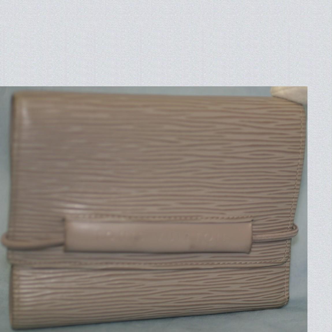 【中古】本物綺麗L/V女性用エピのパース,エラスティックライラックM6346Bゴム式3つ折小ぶりの財布