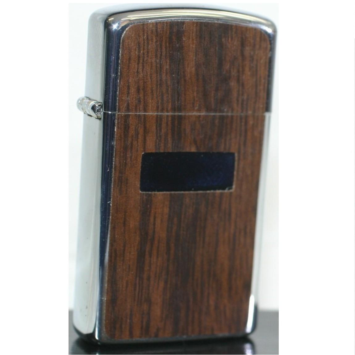 【中古】本物新品未使用Zippo1978年製造ビンテージ長期保管品の小ぶりのオイルライター木目アンティーク○D12-201-1