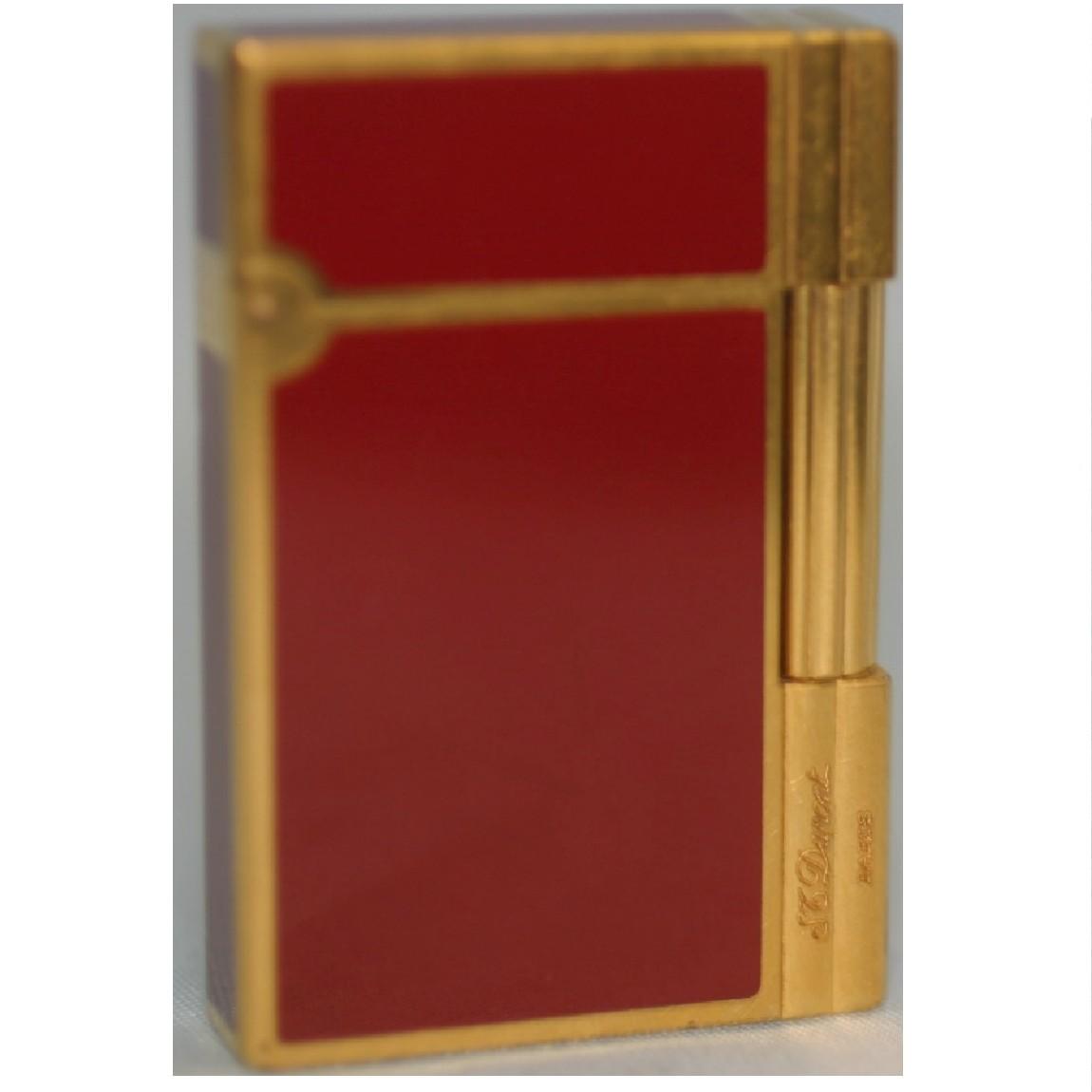 【中古】本物完動美品デュポン開閉時にきんという音のするボルドーラッカーx金色5,6x3,7x1,1センチライター○D9-162