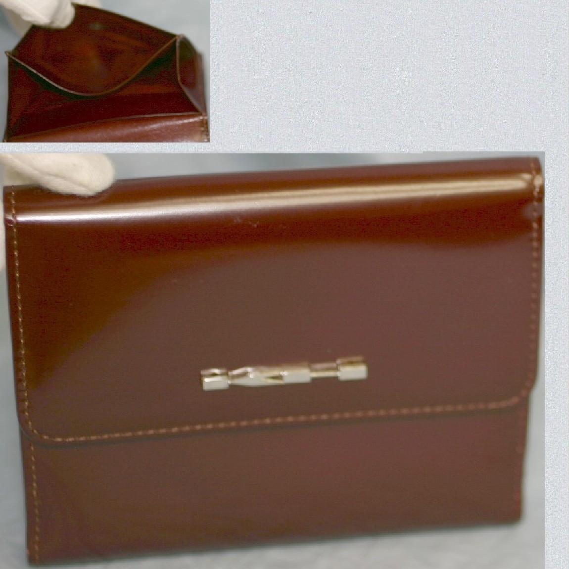 【中古】本物未使用キャサリンハムネット女性用ボルド-革Wホックの財布