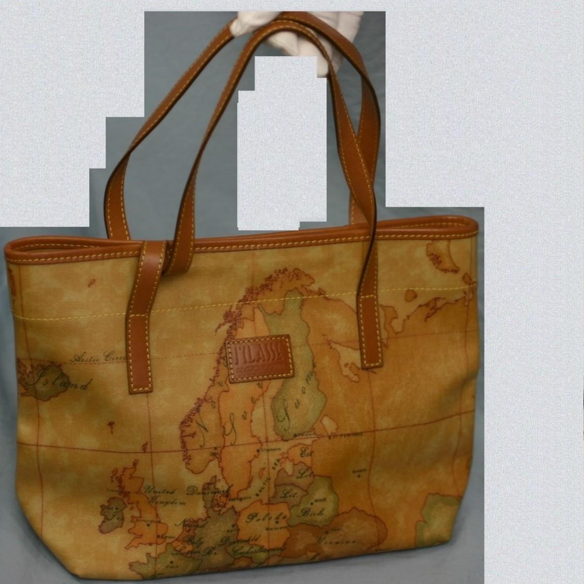 【中古】本物新品プリマクラッセ世界地図柄女性用33,5センチショルダ-ト-ト