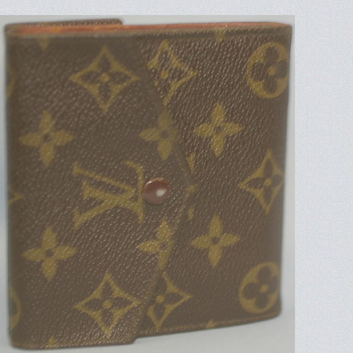 【中古】本物レアL/Vビンテ-ジ女性用モノグラムWホック財布M61648初期型