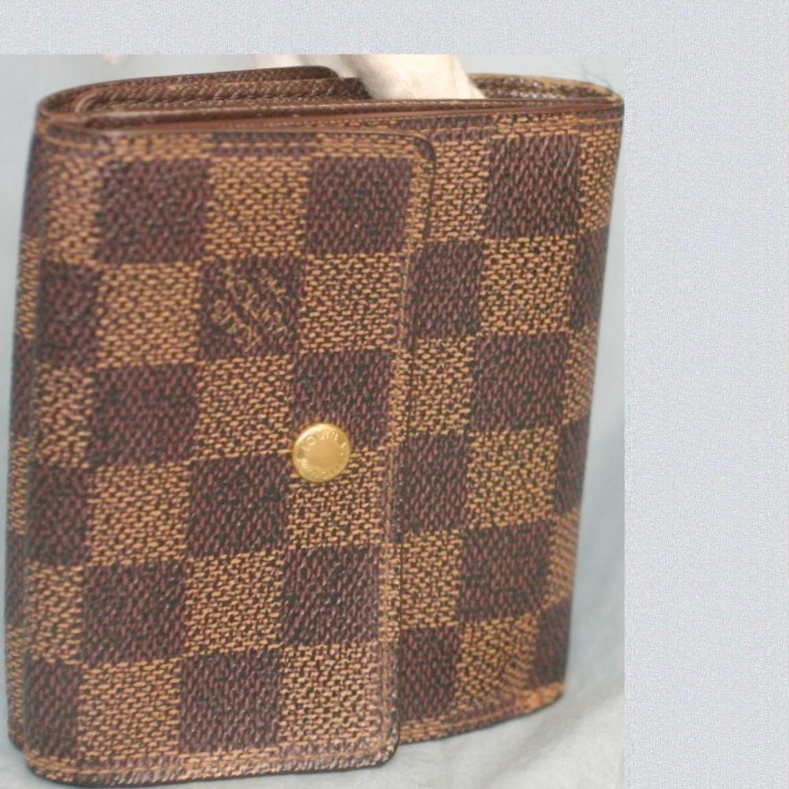 【中古】本物L/VM61652ダミエ女性用Wホック財布