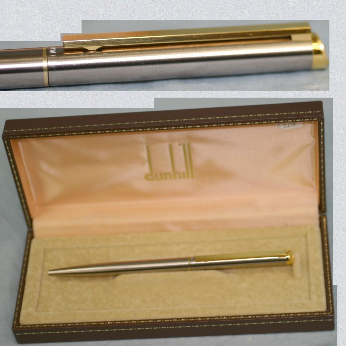 【中古】本物綺麗ダンヒル紳士用コンビのお洒落なボールペン ○D6-208