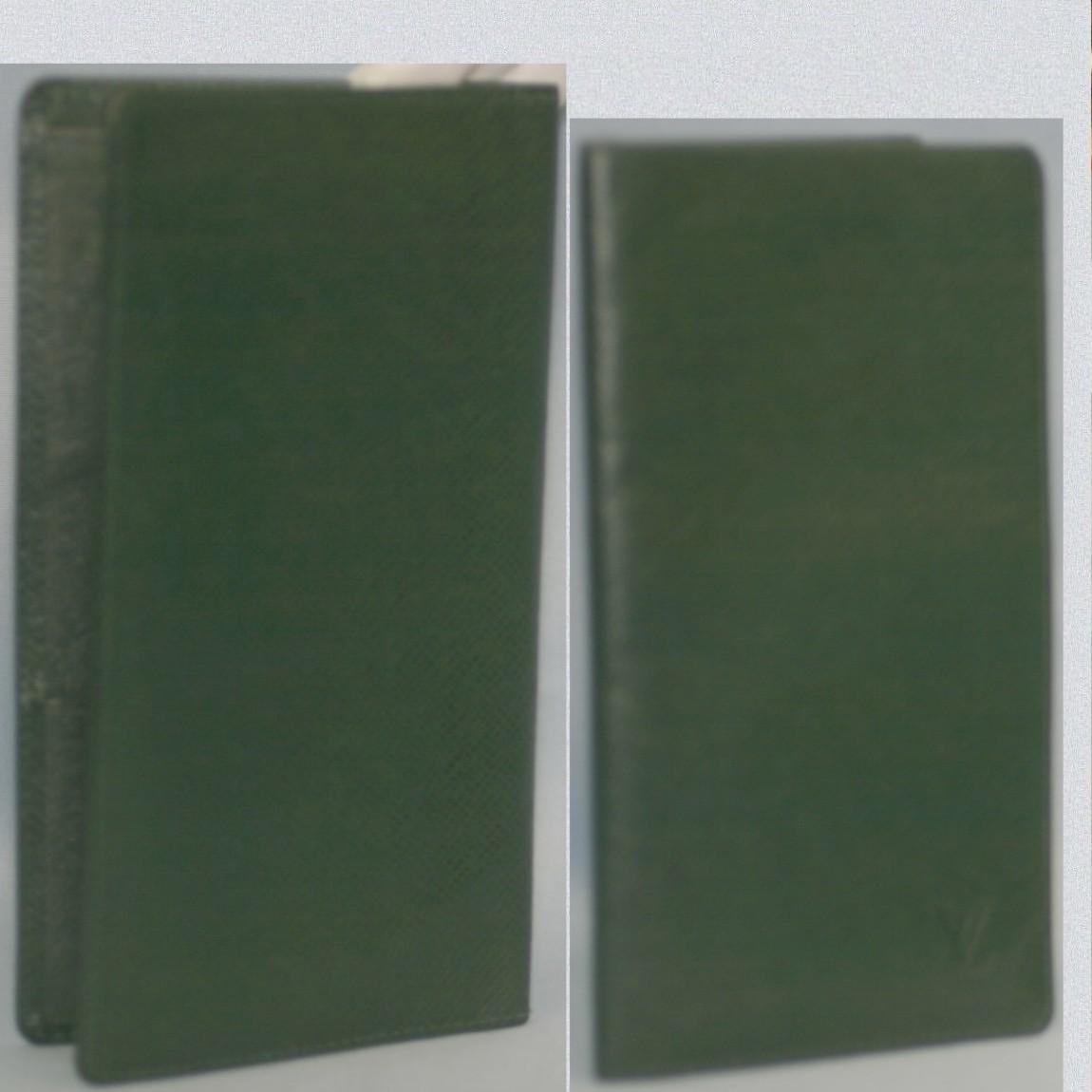 【中古】本物L/Vタイガのエピセア【深緑色】紳士用18センチ2つ折長財布M30394 サイズ18x9,5cm