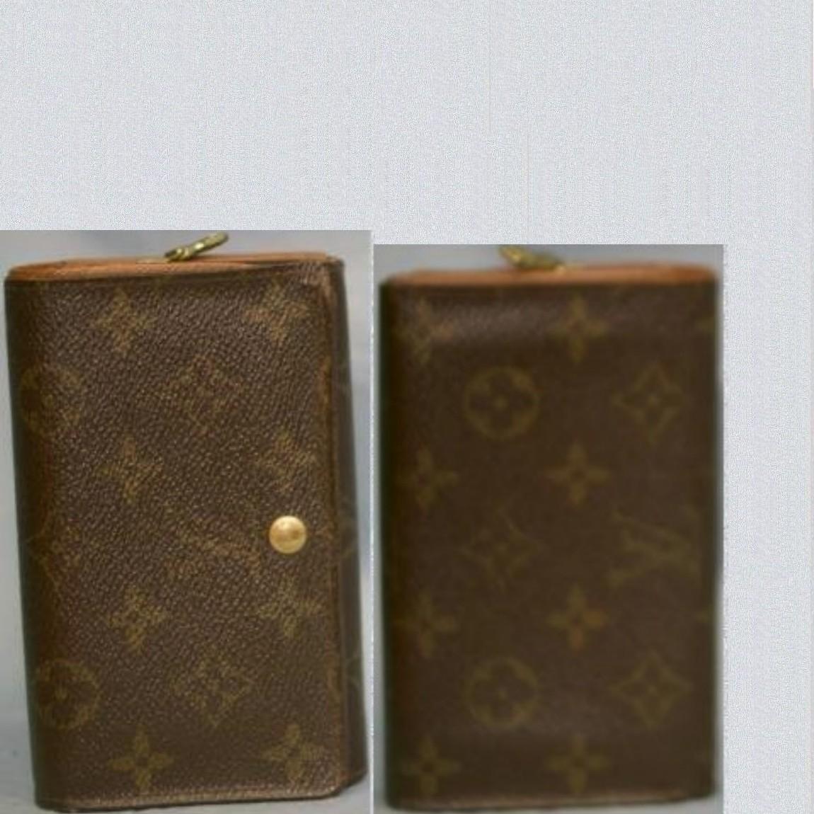 【中古】本物可L/VM61730モノグラム柄女性用ファスナー付財布