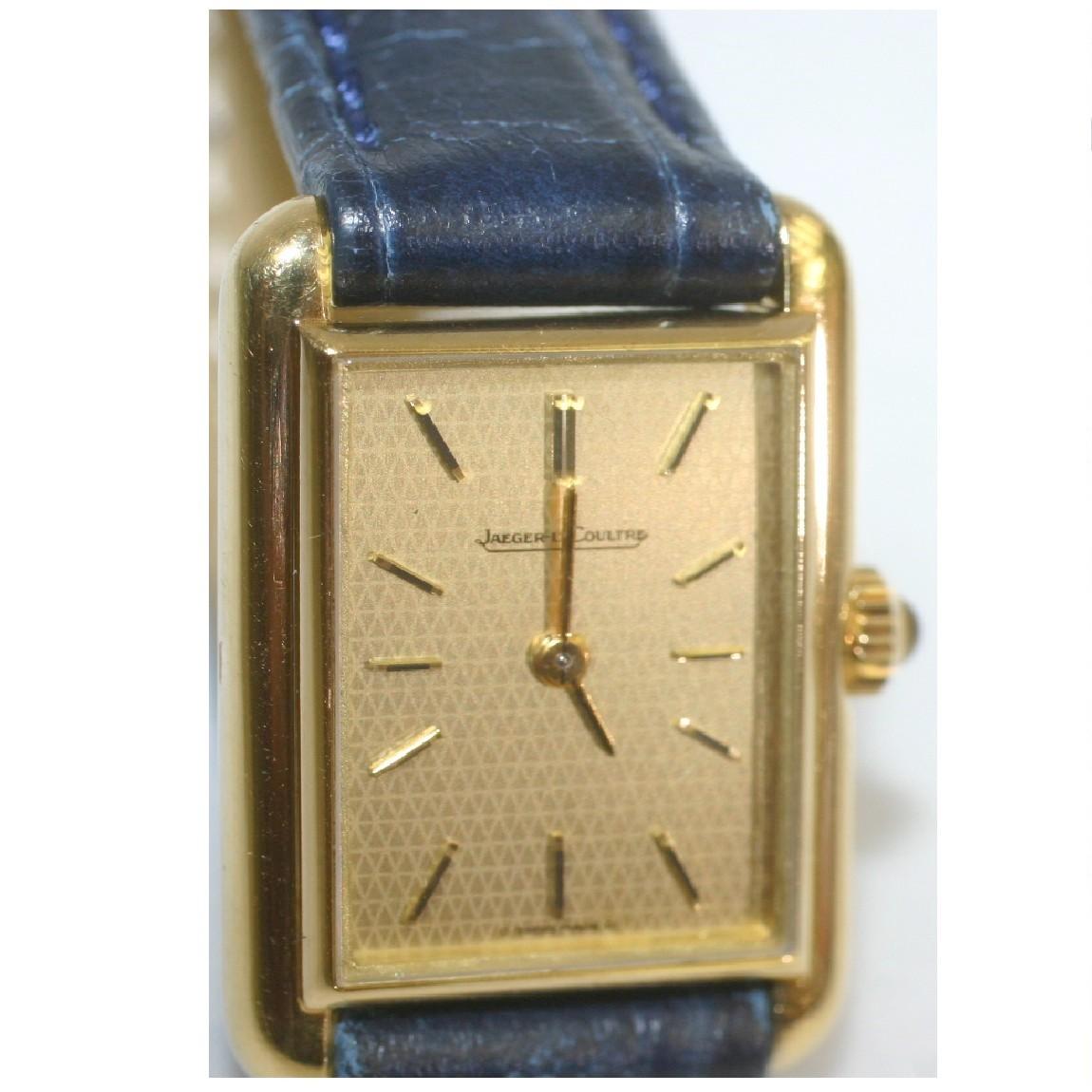 【中古】本物完動美品ジャガールクルトの女性用K18YG金無垢の時計MORELLATOモレラートの2万円以上のベルト付 ○A15-7