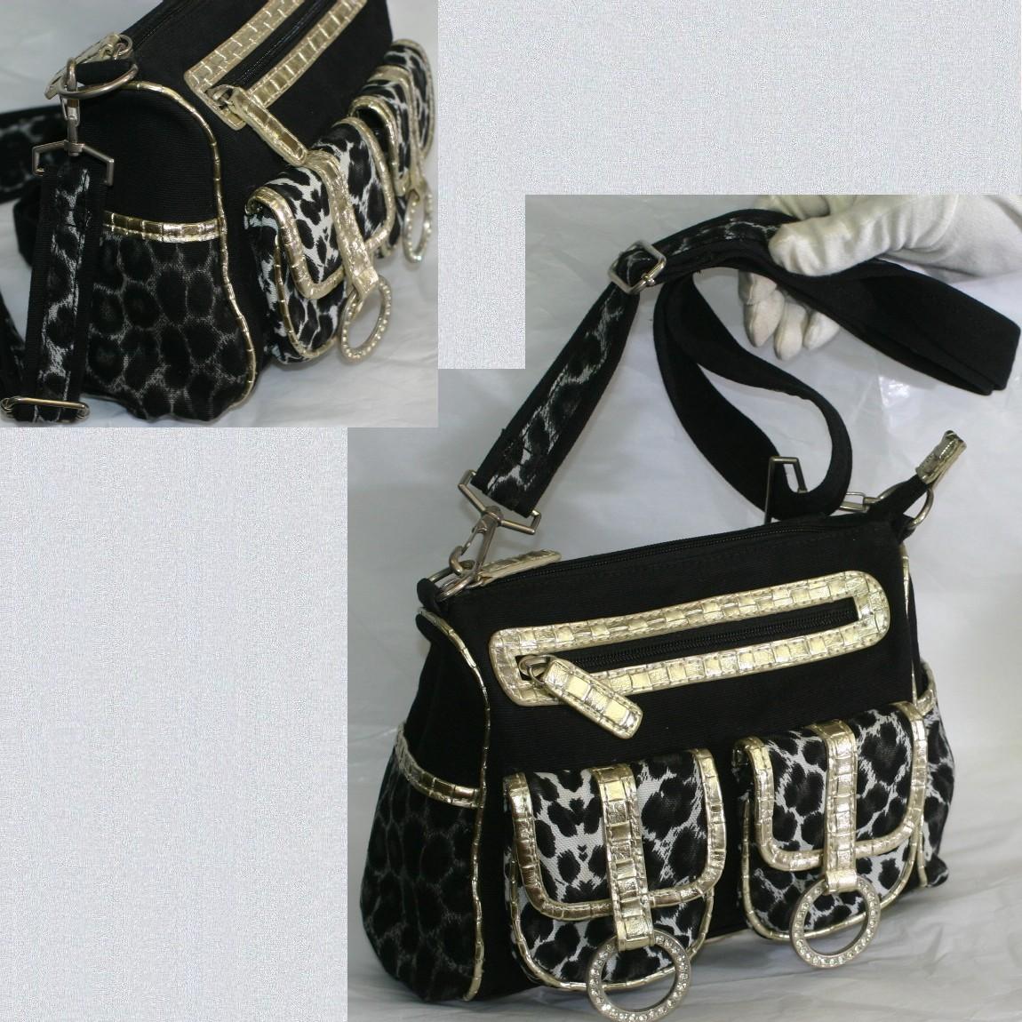 【中古】本物ほぼ新品伊太利亜の取り外し可能なショルダーストラップつきウエストバッグにも使用可能な斜め掛け可能なバッグ サイズW23H18D8cm