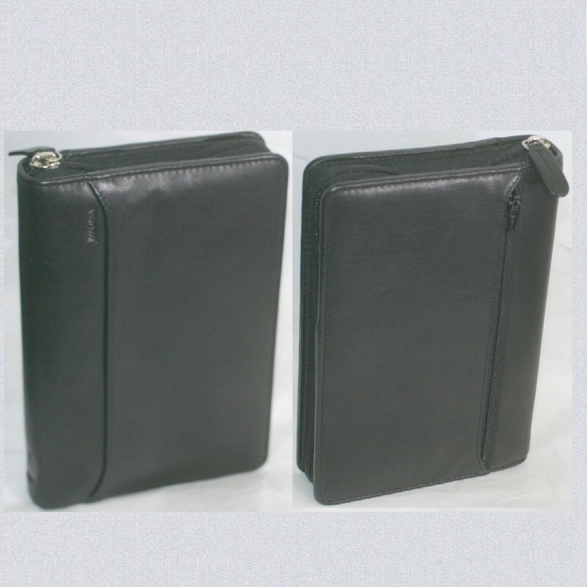 【中古】未使用紳士用ファイロファックス オーガナイザー バイブル ナッパ ブラック サイズW20H13cm