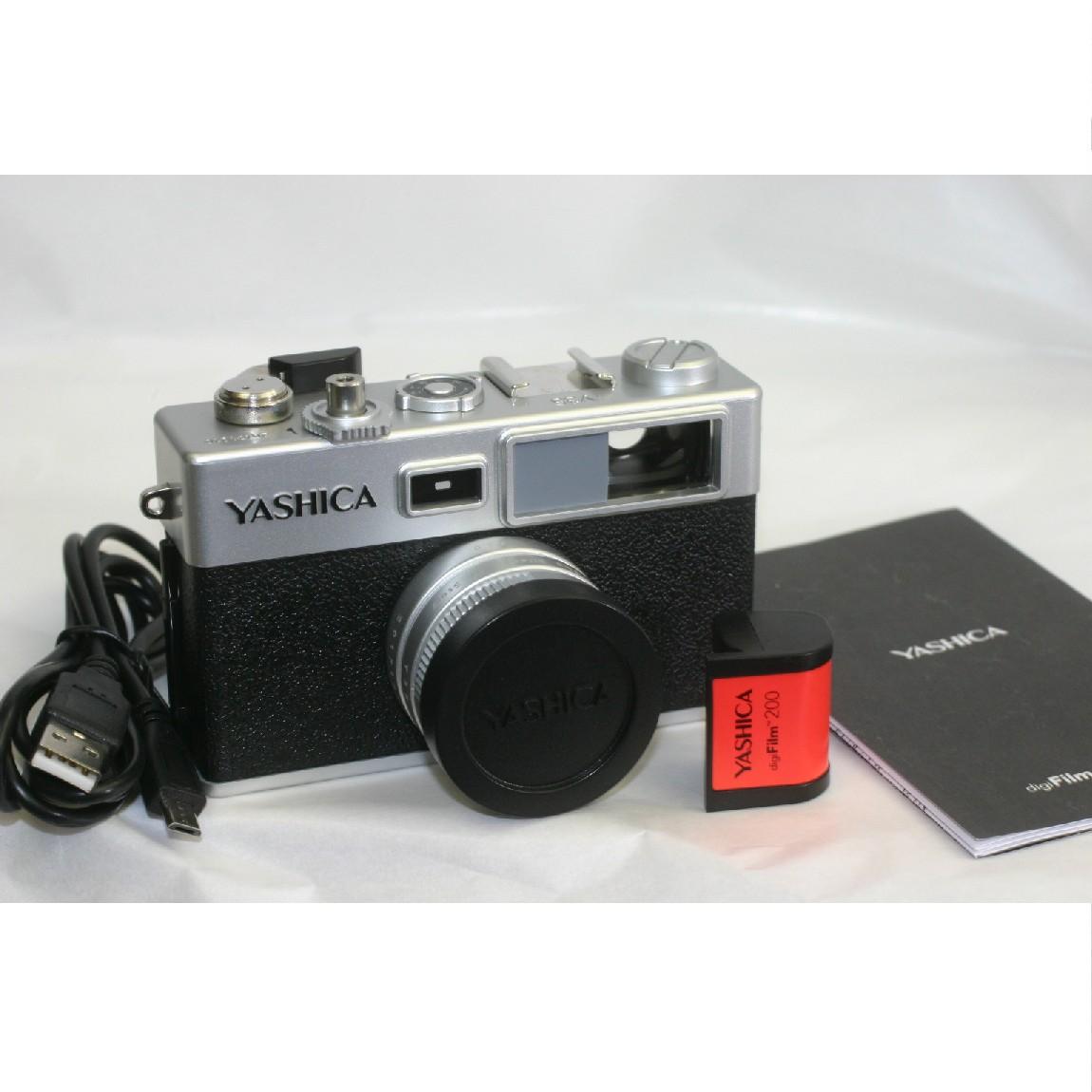 【中古】新品同様ヤシカのアンティークなデザインのデジタルフィルムカメラY35 3ヶ月保障付 ○F14-21