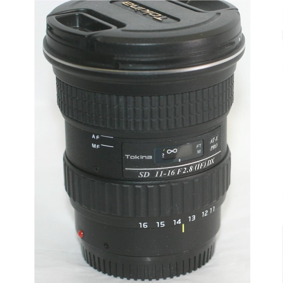 【中古】完動美品トキナーのソニー1眼レフデジタルカメラ用広角ズームレンズSD11-16mmF2,8(if)AX 1ヶ月保障付 ○F14-23-1