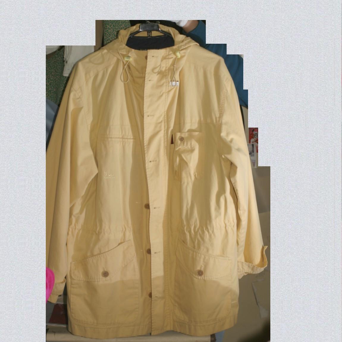 【中古】本物綺麗パーリーゲイツ紳士用DAY NAP黄色フード付温かいジャンパーサイズ3
