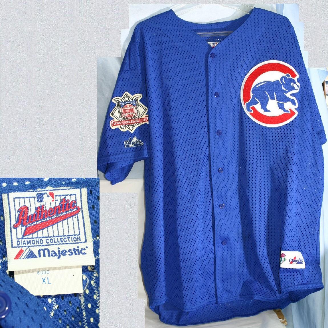 【中古】新品MLB元シカゴカブス サミーソーサ試合前着用ユニフォームサイズXL