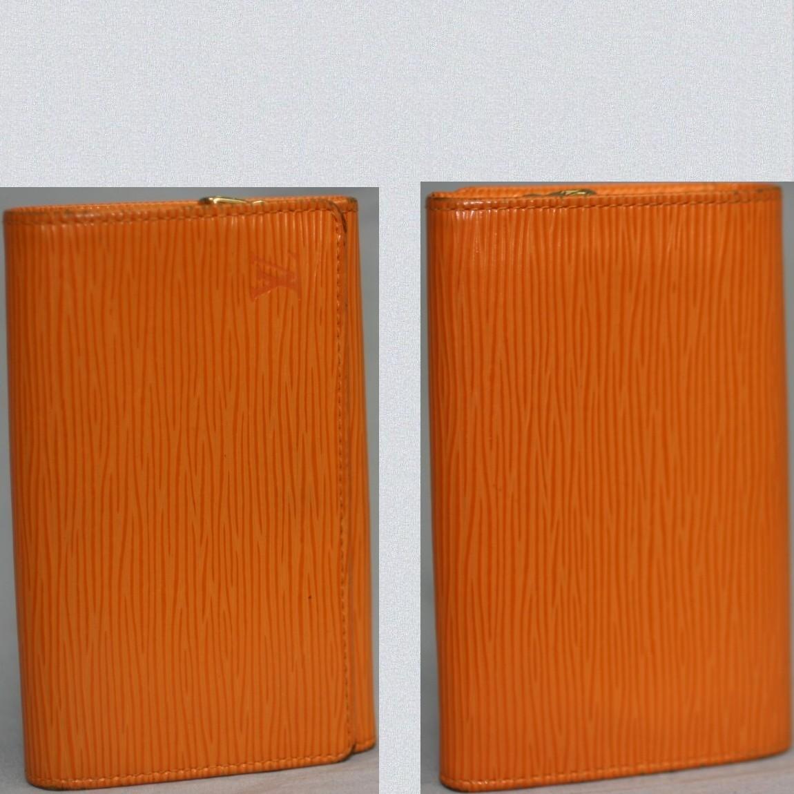 【中古】本物L/VM6350Hエピ女性用マンダリンL地ファスナー付財布