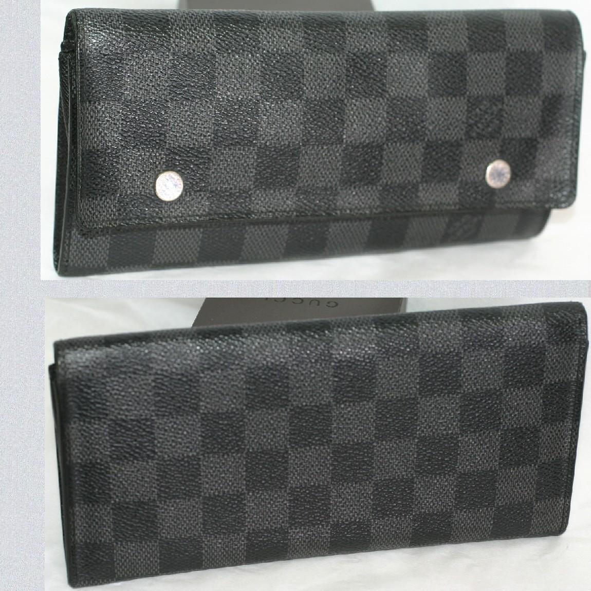 【中古】本物美品L/Vダミエグラフィット紳士用長財布ポルトフォイユロンモデュラブルM63084 お勧めです