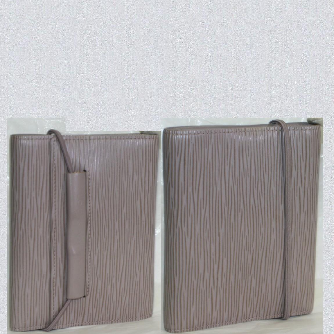 【中古】本物綺麗L/Vエピの綺麗なライラック色の女性用財布パースエラスティックM6346C サイズW14H11cm