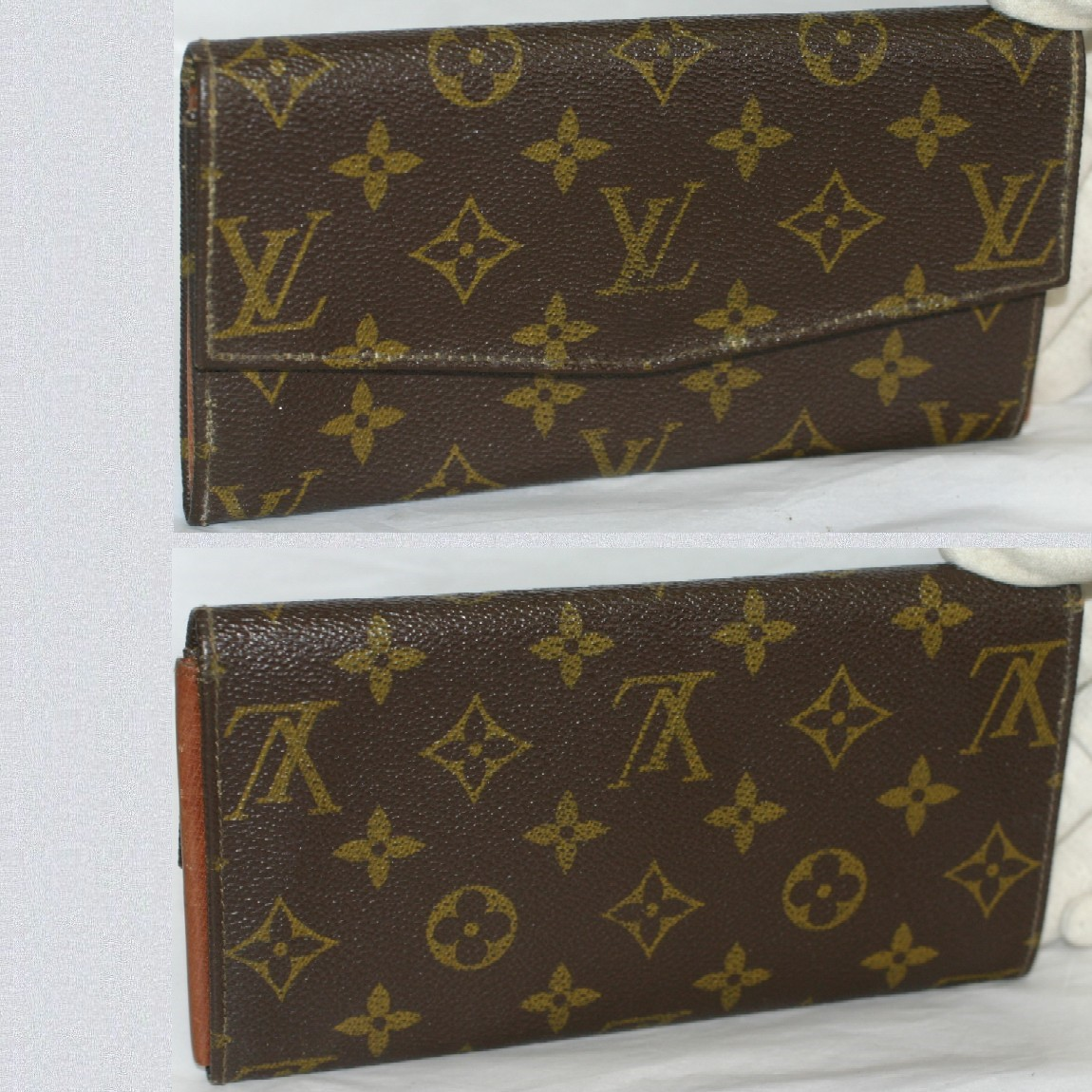 【中古】本物L/Vモノグラム柄男女兼用初期型ファスナー付長財布 コレクションに最適