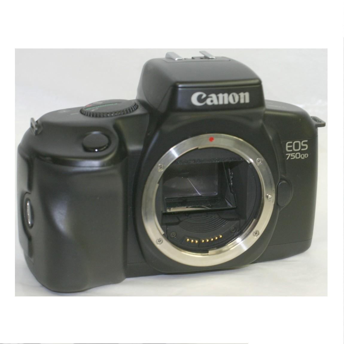 【中古】完動美品キャノンの35mmフィルム使用可能な1眼レフAFカメラEOS750QD 1ヶ月保障付 ○F14-14-3