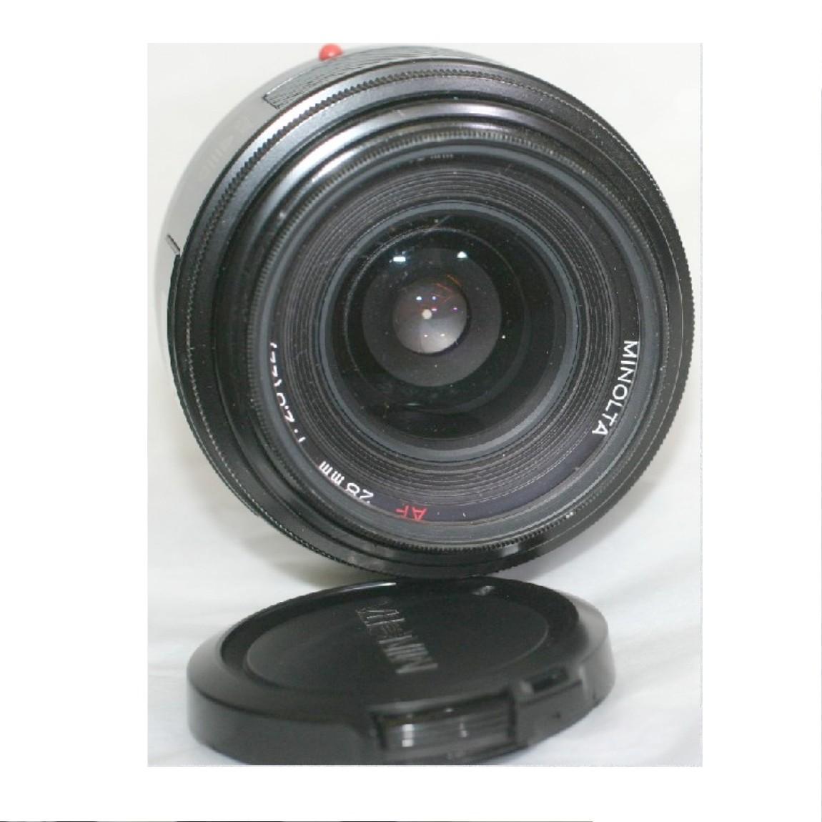 【中古】完動美品ミノルタAF28mmF2,8広角レンズソニー1眼レフデジタルカメラにも使用可能動作確認済み1ヶ月保障つき ○F12-2-3