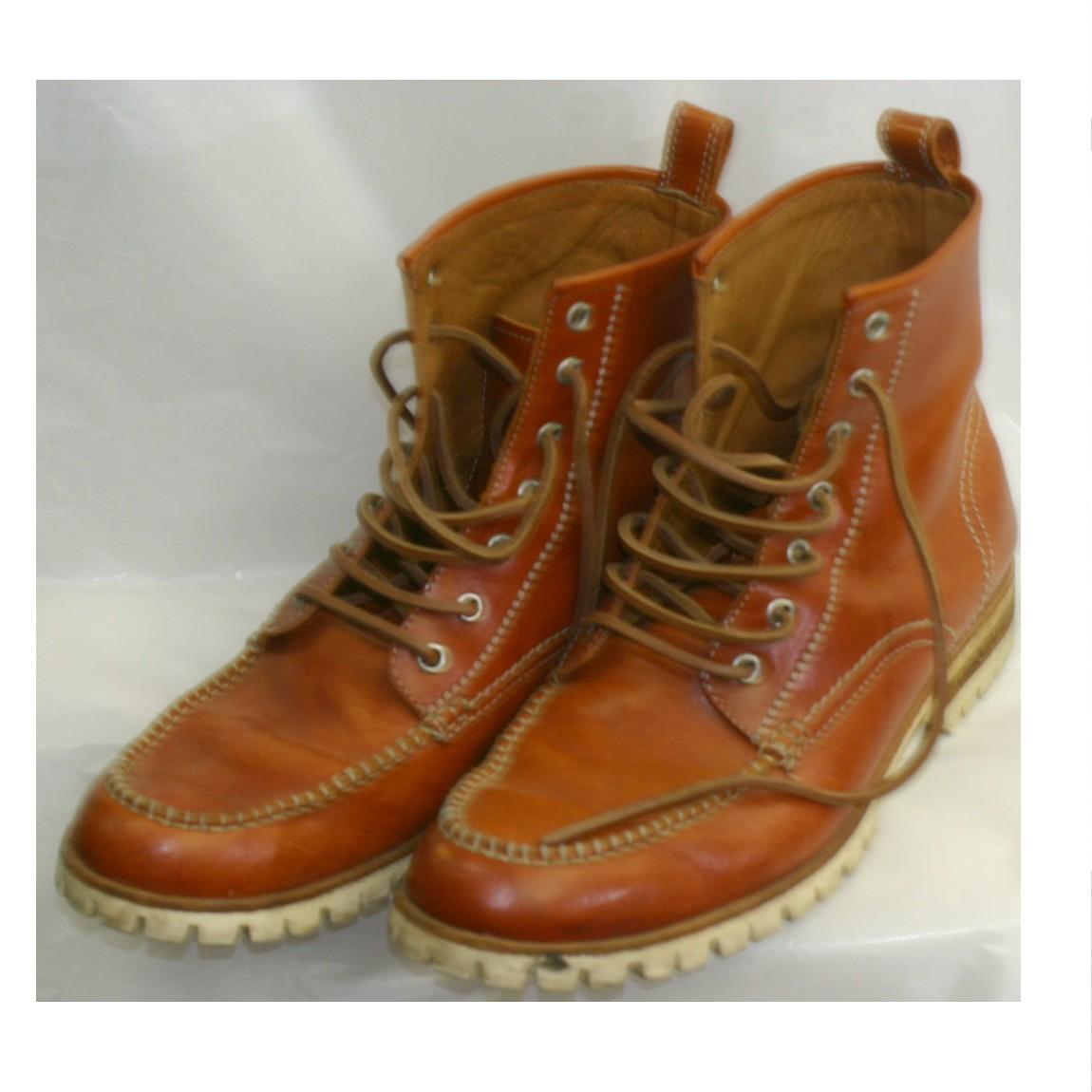 【中古】本物美品DSQUARED2ディスクアードのブラウン色革素材のブーツ お勧めです サイズ表記41 1/2 ○D14-79