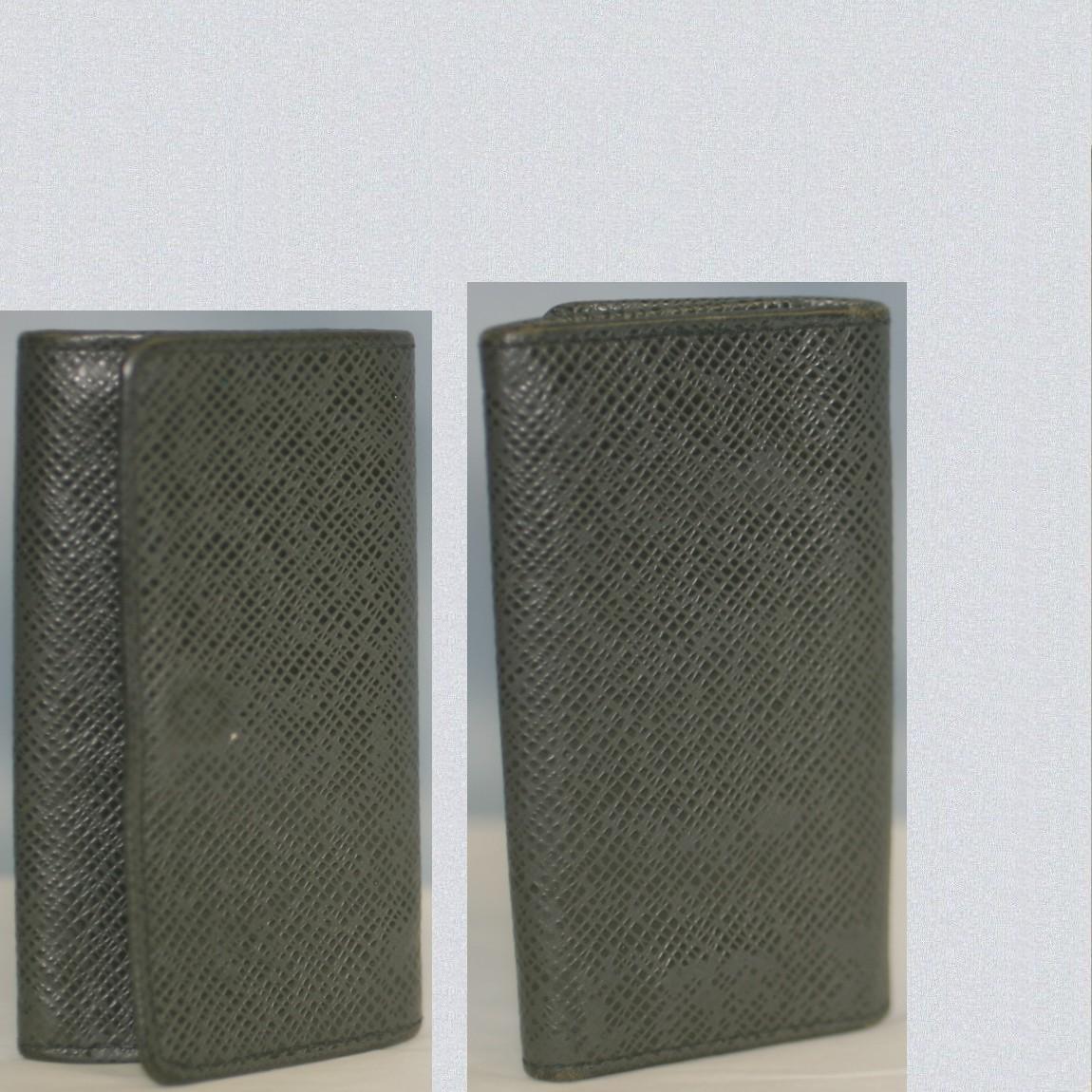 【中古】本物美品L/V紳士用タイガの黒アルドワーズ4連キーケースM30532