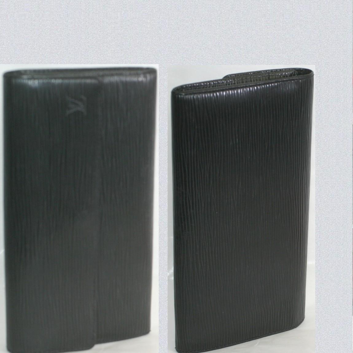 【中古】本物抜群に綺麗L/Vエピの黒い紳士用ファスナーつき長財布M63592 サイズW19,5H11D2cm