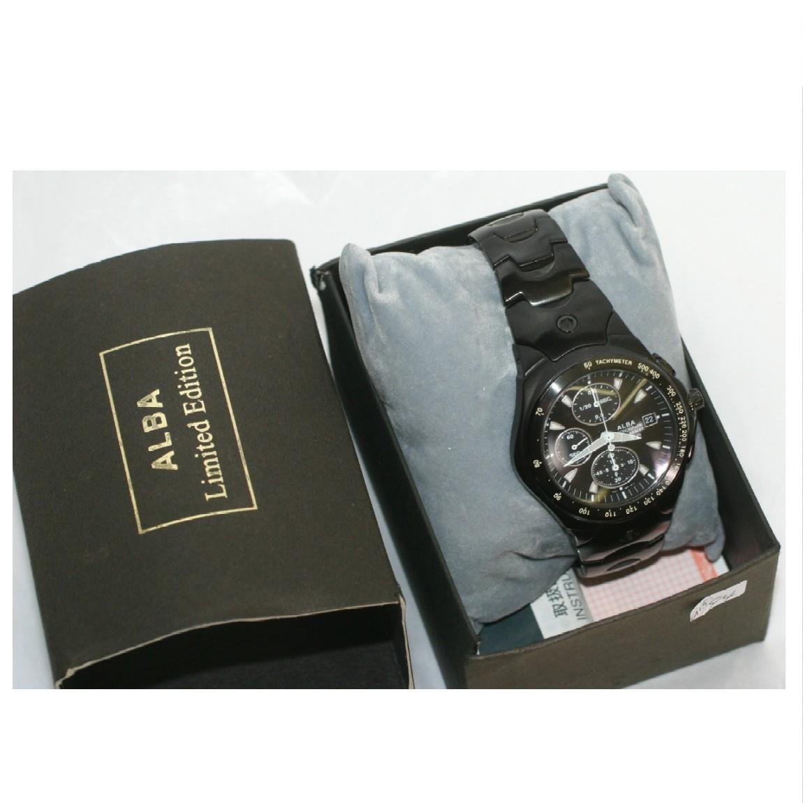 【中古】本物新品同様セイコー腕時計アルバ ルークスABFV049 0111/1000個限定10気圧防水クロノの丈夫な時計7T92-0BT0 2003年グッドデザイン賞受賞当時の価格25000円
