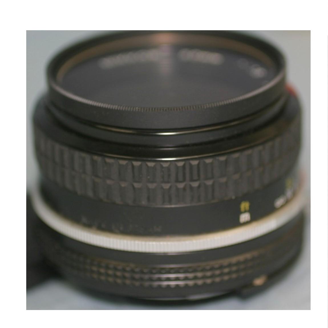 【中古】新品同様ニコンマニュアル標準レンズ50ミリ/F1,81眼レフデジカメ使用可 ○F8-18-5