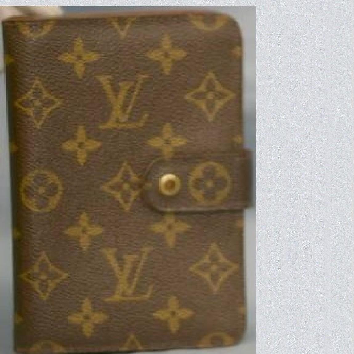 【中古】本物L/VM61207モノグラム柄女性用ファスナー付財布