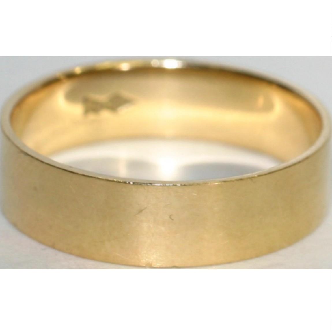 【中古】本物綺麗K18重さ3,8g日本サイズ17号の指輪 幅0,5cm、直径2cm