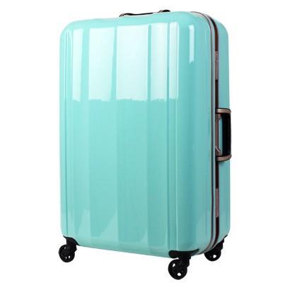 最新最軽量モデル!!PC100 %鏡面仕上げスーツケース ミントグリーン【M】全体サイズ70cm×46cm×28cm 【送料無料】