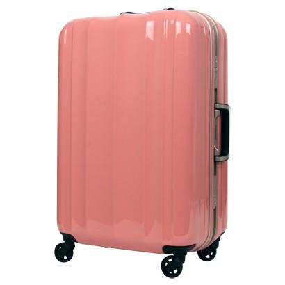 最新最軽量モデル!!PC100 %鏡面仕上げスーツケース ピンク【M】全体サイズ70cm×46cm×28cm 【送料無料】