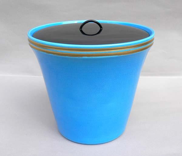 茶道具 末広浅黄交趾水指