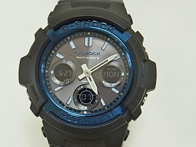 【送料無料!6ヶ月保証】カシオ G SHOCK AWG-M100A 電波ソラー メンズ 6バンド 時計 【中古】