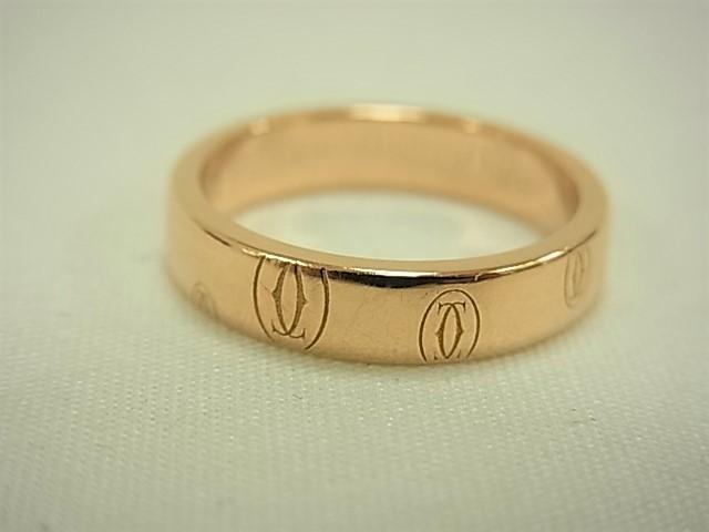 【送料無料】カルティエ ハッピーバースデーライン リング K18PG #49 約9号 4.5グラム 指輪【中古】