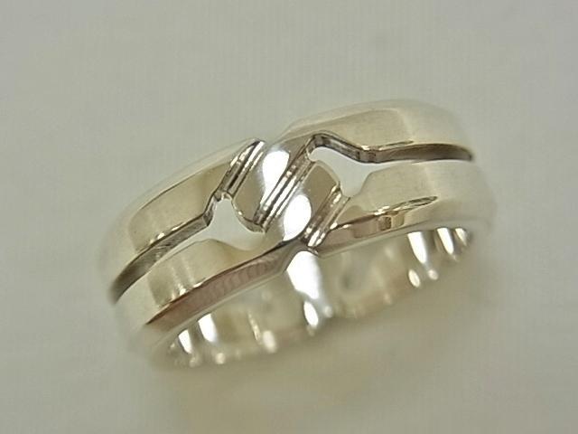 【送料無料】グッチ シルバー ノットリング SV925 #14 6.6グラム 指輪 【中古】