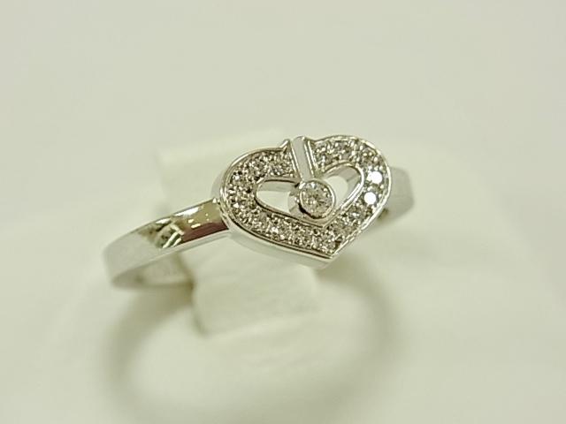 カルティエ Cartier Cハートダイヤモンドリング K18WG K18ホワイトゴールド 47 【中古】 【リング】 【送料無料】
