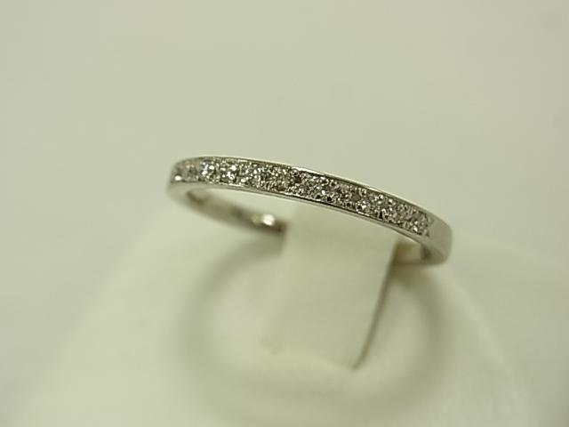 【送料無料】4℃ PT950 ダイヤモンドリング #10.5 2.2グラム ブルーダイヤ【中古】