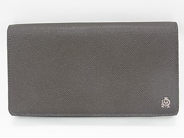 【送料無料】ダンヒル 大型財布 オーガナイザー トラベルケース L2M1C3Z 小型バッグ 多機能 ダークグレー【新品同様】